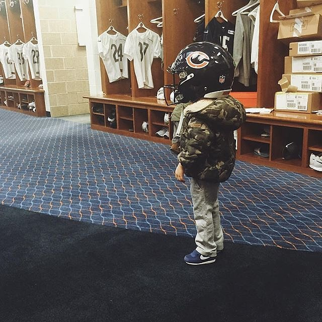 """""""Please don't tell me I have a future football player on my hands."""""""