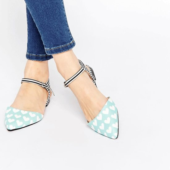 Pointed Lace Up Flats Online Shopping
