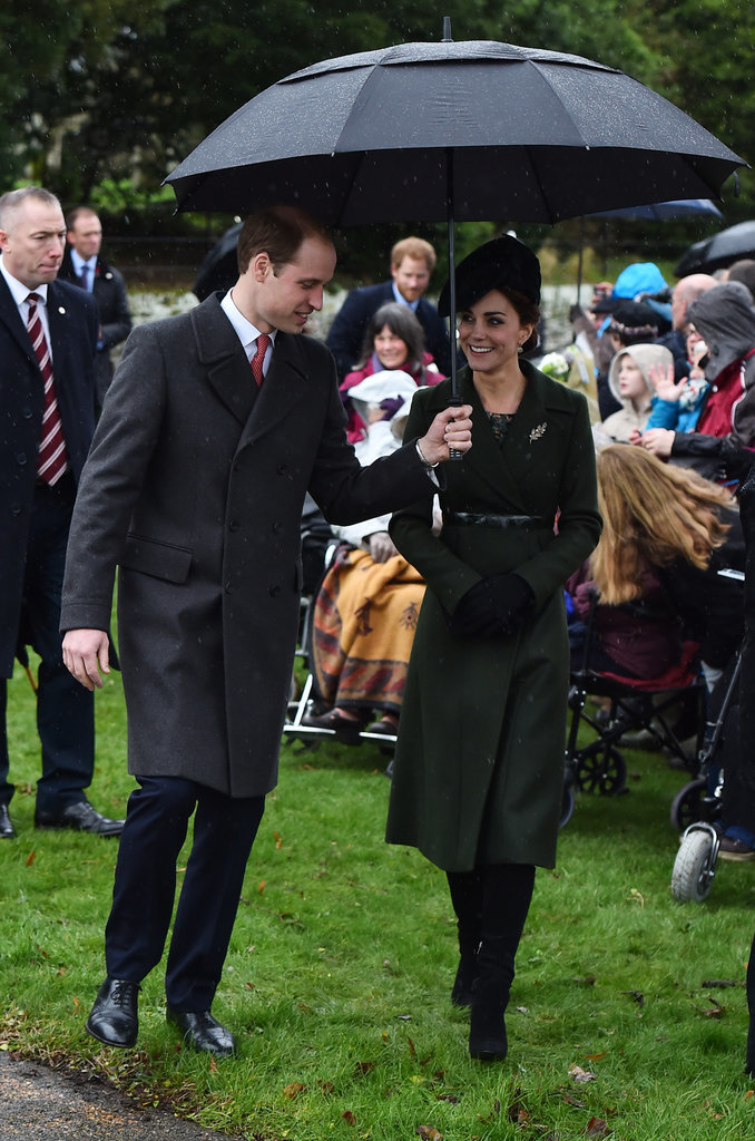 Kate Middleton at Sandringham For Christmas in 2015
