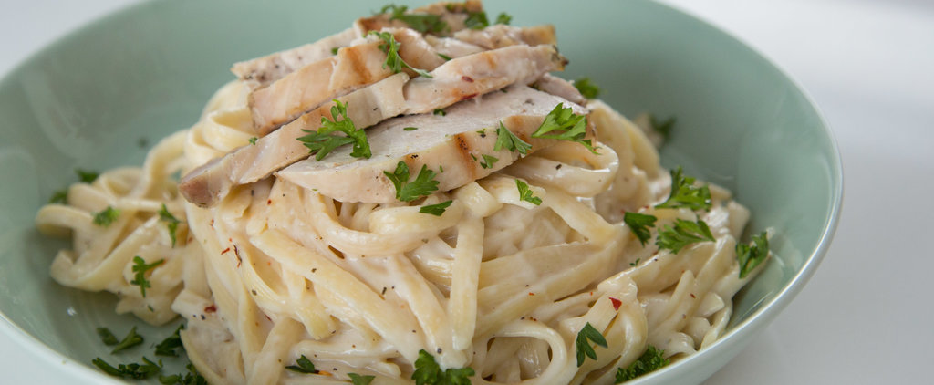 Guilt-Free Fettuccine Alfredo With Chicken
