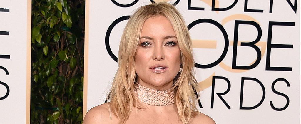 Yep, Kate Hudson Just Crashed Dwayne Johnson's Interview at the Golden Globes
