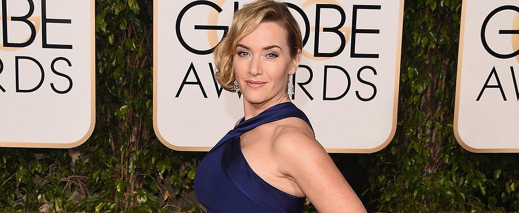 "Kate Winslet Thanks Michael Fassbender, Calls Him a ""Legend"" in Her Golden Globes Speech"