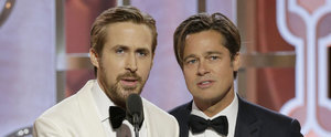 Ryan Gosling and Brad Pitt Are Hands Down the Cutest Duo at the Golden Globes