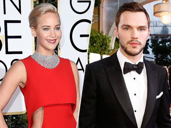 Friendly Exes: Jennifer Lawrence Spotted Chatting with Nicholas Hoult at the Golden Globes