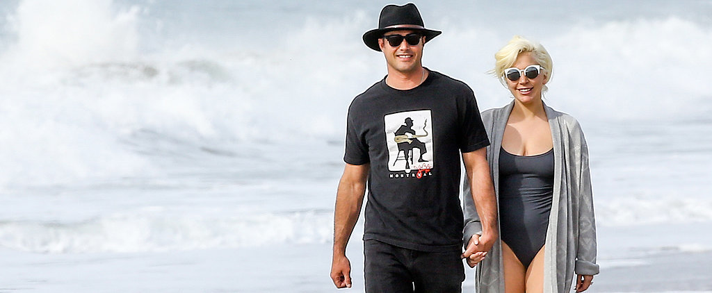 Lady Gaga and Taylor Kinney Have a Lovely Beach Day After the Globes