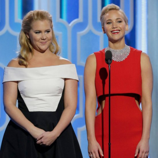 Jennifer Lawrence Amy Schumer at Golden Globe Awards 2016