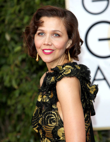 Maggie Gyllenhaal was sombre at the 2016 Golden Globes