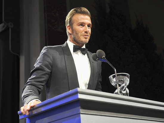 David Beckham Receives Humanitarian Award at Star-Studded UNICEF Ball