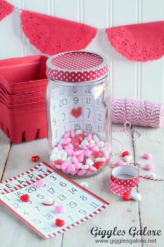 Valentine Bingo in a Jar