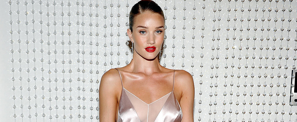 Rosie Huntington-Whiteley Found Just the Right Dress For Showing Off Her Engagement Ring