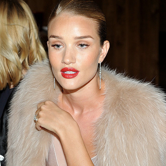 Even the Most Glamorous Outfit Can't Out-Dazzle Rosie Huntington-Whiteley's Engagement Ring