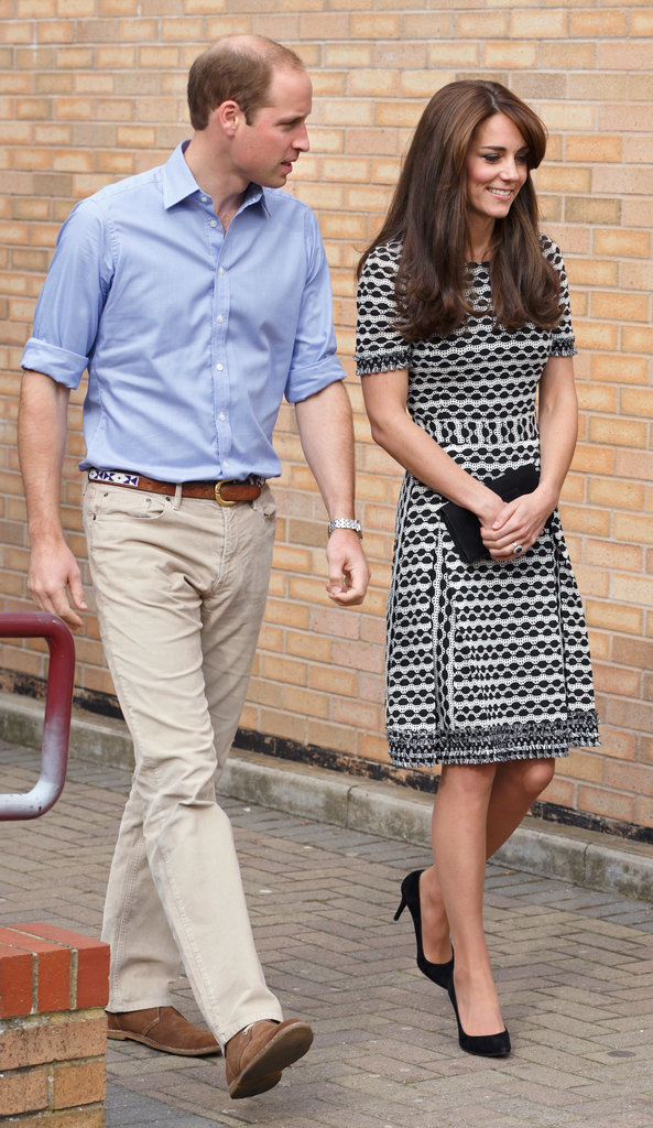 Once Upon a Time, Prince William Matched His Printed Belt to Kate's Textured Dress