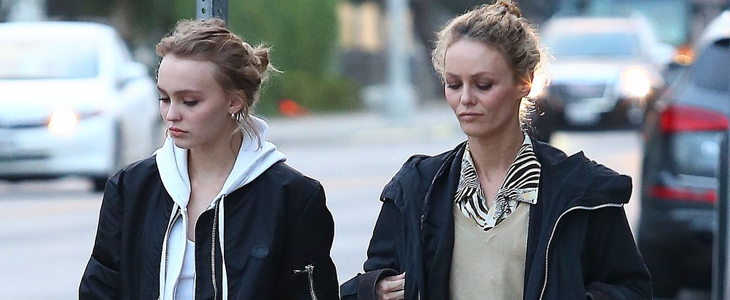 Vanessa Paradis Does Some Shopping With Her Lookalike Daughter, Lily-Rose Depp