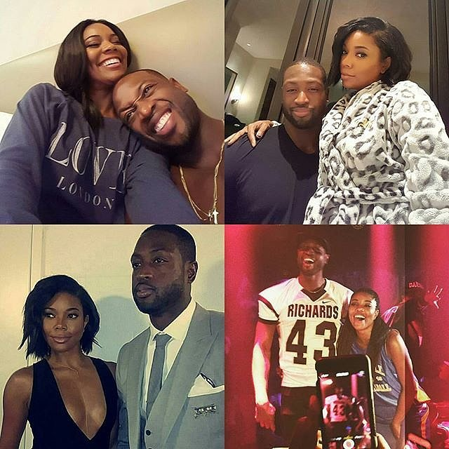 "In January 2016, Gabrielle shared a sweet birthday message for Dwyane, writing, ""Happy Birthday... may the adventures continue #34 #nbavote @dwyanewade."""