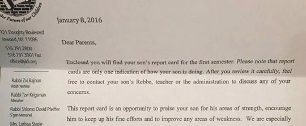 What 1 School Included in a Student's Report Card Is Raising Eyebrows