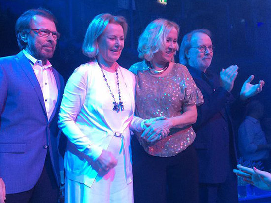 ABBA Reunite at New 'Mamma Mia' Inspired Restaurant in Stockholm