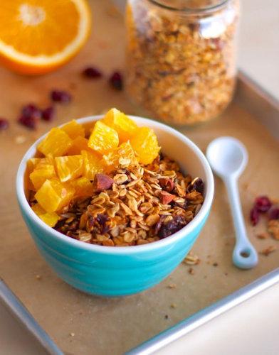 Cranberry Orange Granola - Eat Spin Run Repeat