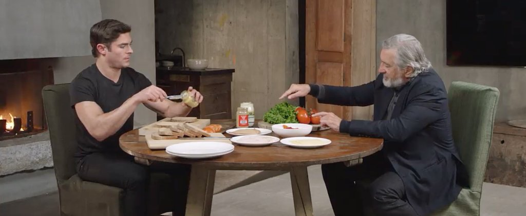 Watch Robert De Niro Use Zac Efron to Make a Sandwich, Because He Can