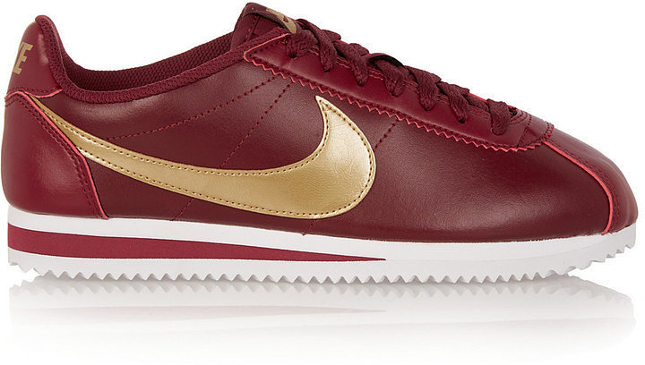 nike cortez red gold