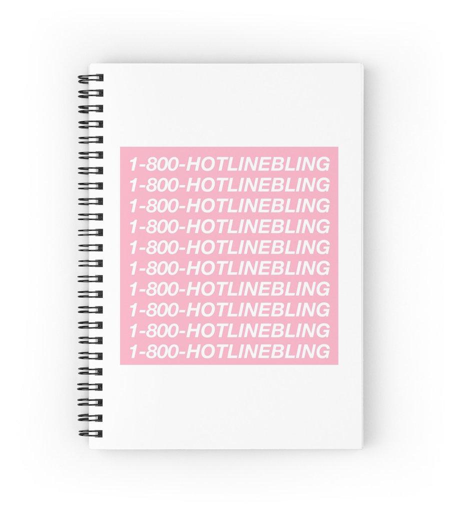 """""""1-800-HOTLINEBLING"""" Spiral Notebook ($12)"""