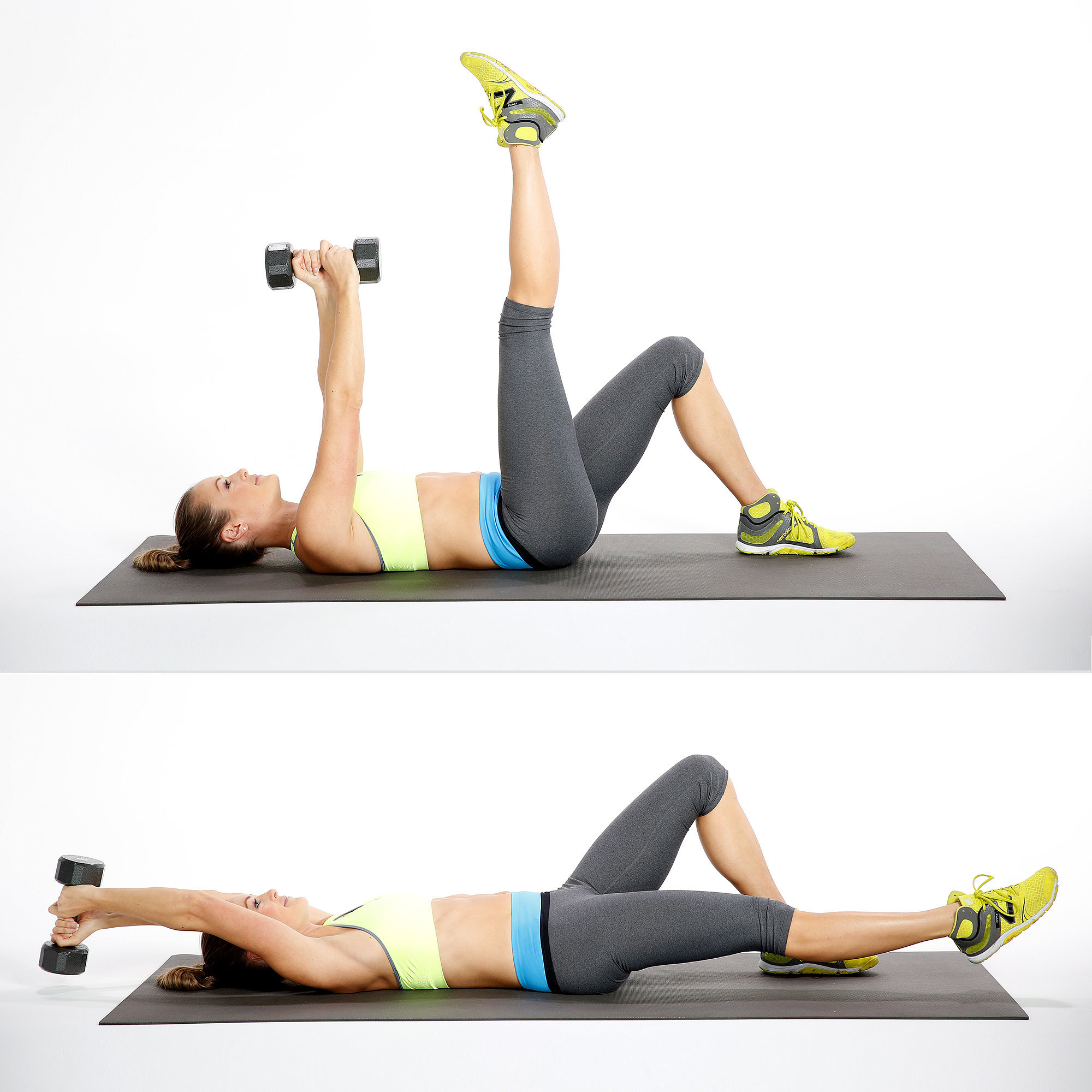Overhead Reach With Leg Lower These Are The Moves For Insanely Cut Abs Popsugar Fitness