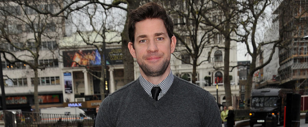 John Krasinski Tries to Cover Up His Bulging Biceps With a Thick Sweater, Fails
