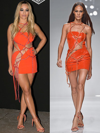 Rita Ora Bares Nearly All in a Tiny Versace Dress So Hot, Joan Smalls Is Still Wearing it on the Runway