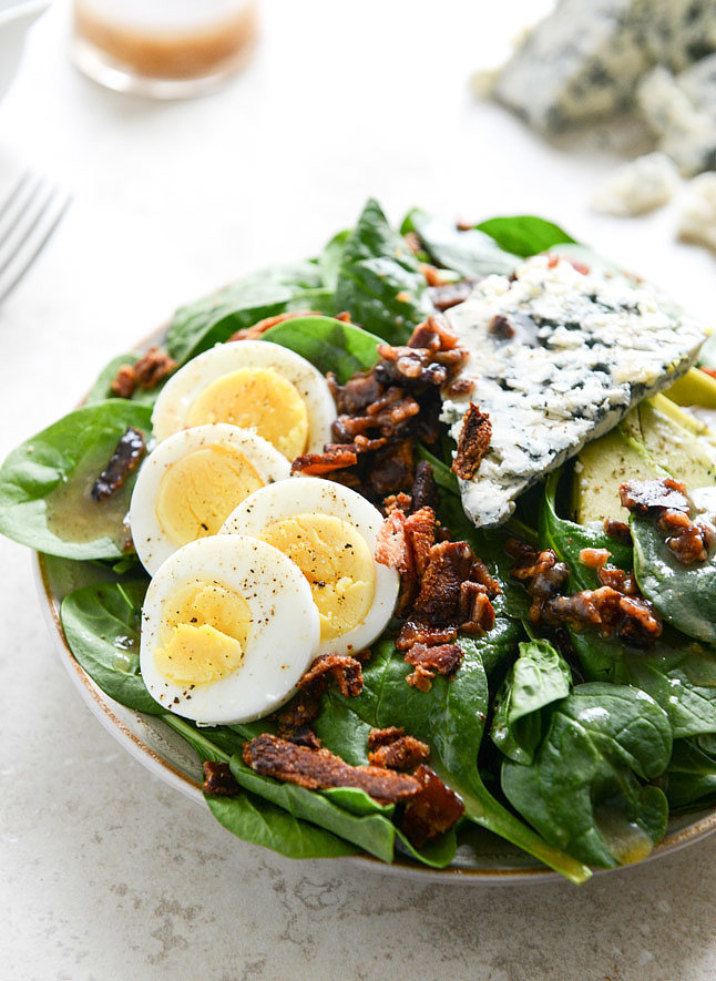 Spinach Salad With Warm Bacon Vinaigrette Recipe — Dishmaps