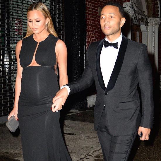 Chrissy Teigen's Date-Night Dress Is Out-of-This-World Sexy