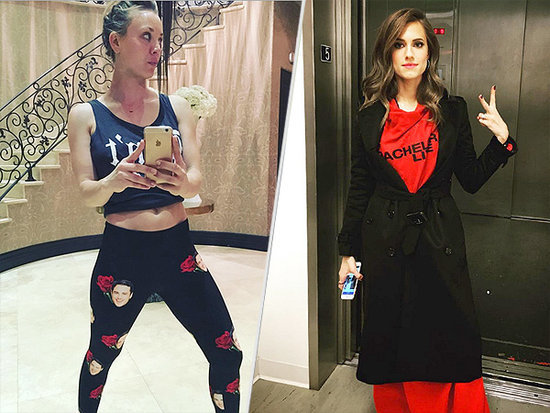 Ben Higgins-Print Leggings! A Bachelor Snuggie! Celebs' Viewing Attire Is Next-Level Amazing