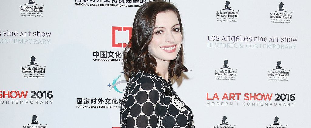 Anne Hathaway's Baby Bump Makes Its Red Carpet Debut in a Quirky Little Minidress