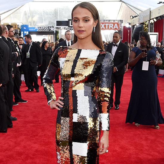 Alicia Vikander's Dress at SAG Awards 2016