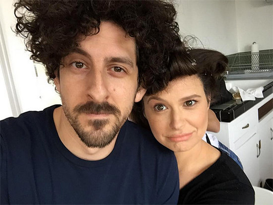 See Scandal Star Katie Lowes and Her Husband's Goofy Getting Ready Photo
