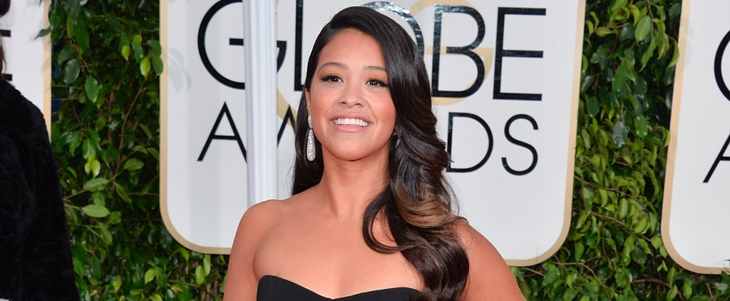 Gina Rodriguez Gives Her Old Golden Globes Dress to a Very Lucky Fan