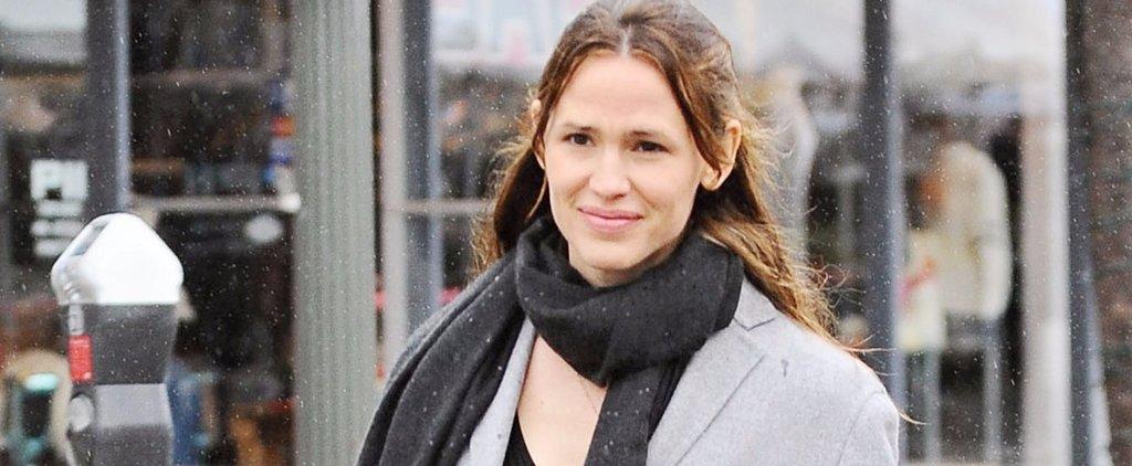 Jennifer Garner Braves the Rain to Grab Groceries in LA