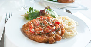 Date-Night Dinner Is Served With Easy Bruschetta Pork Chops For Two
