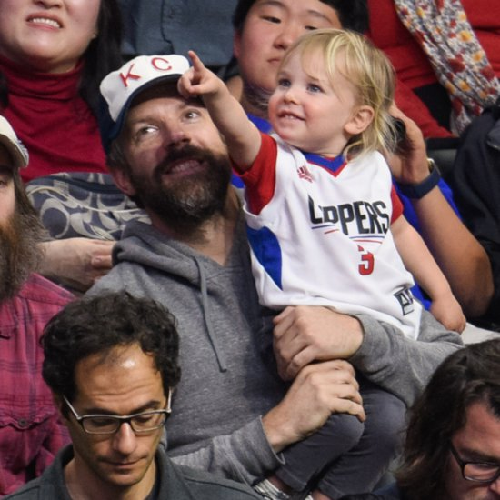 Jason Sudeikis and Son Otis at Clippers Game January 2016