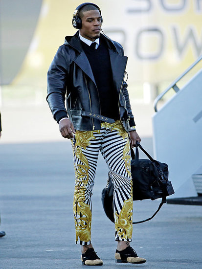 Cam Newton Wears $849 Versace Pants, Twitter Explodes