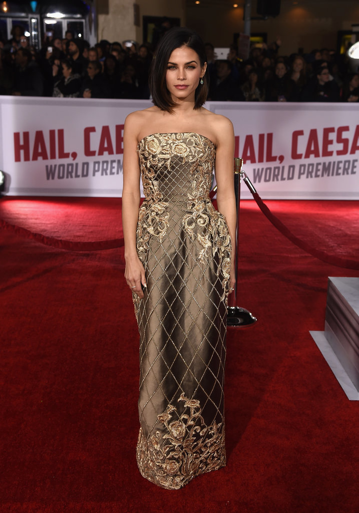 Jenna wore a shiny Ralph & Russo Couture gown, which she paired with Irene Neuwirth jewelry.