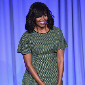 Michelle Obama Green Dress at Magazine Media Conference NYC