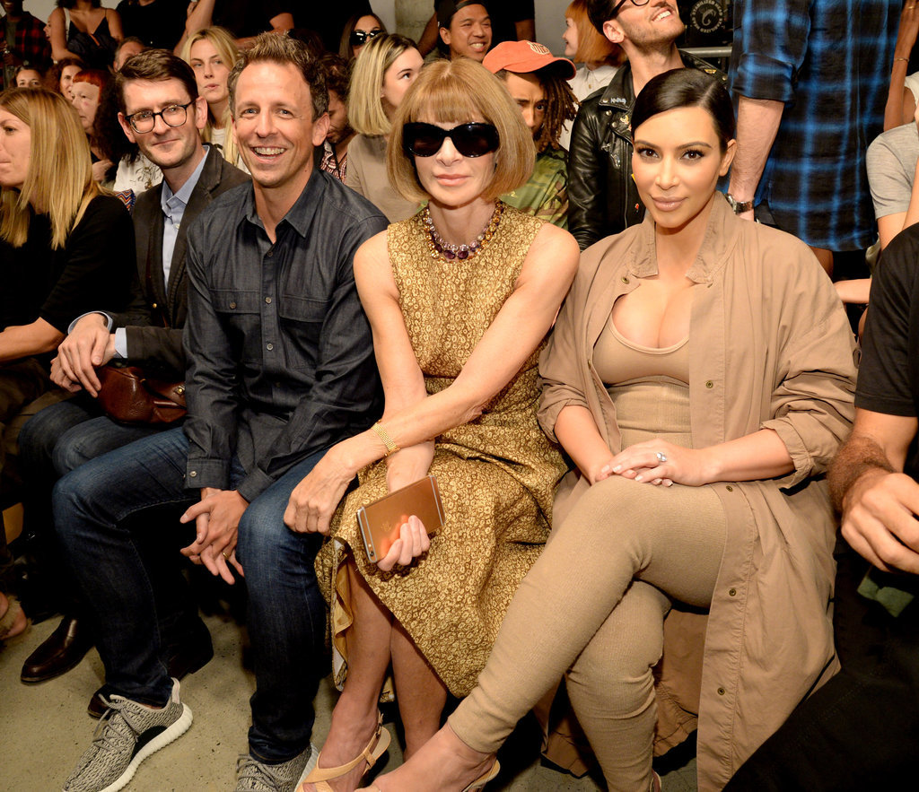 Seth Meyers and Kim Kardashian