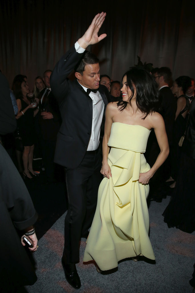 Channing and Jenna had their own dance-off during the Weinstein Company Golden Globes afterparty in January 2015.