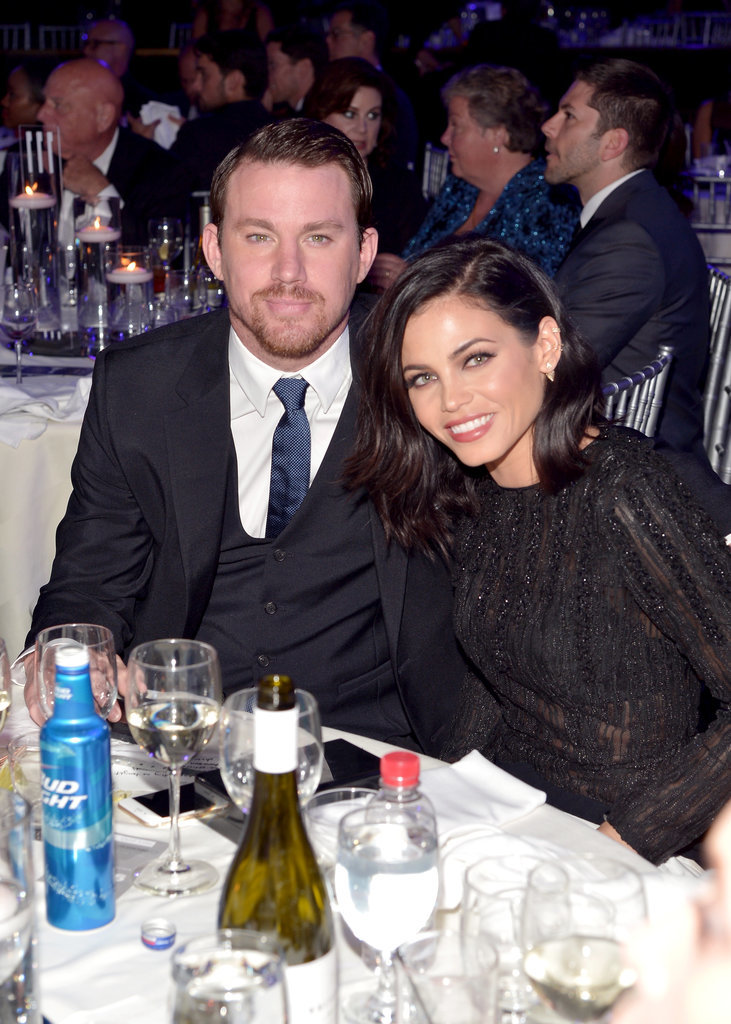 They cozied up at their table during the GLAAD Media Awards in LA in March 2015.