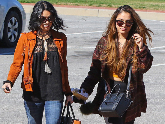 Vanessa Hudgens and Sister Stella Visit Cemetery Days After Father's Death