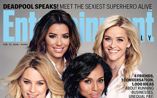 FROM EW: Reese Witherspoon, Elizabeth Banks, Kerry Washington and Eva Longoria Talk the Power of Women in Hollywood