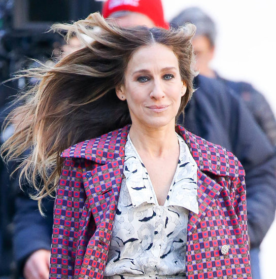Sarah Jessica Parker on the set of Divorce in New York City