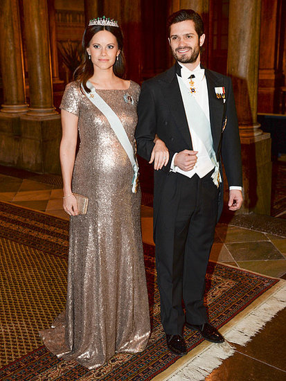 Pregnant Princess Sofia Stuns in Diamond Tiara - and a Gold Dress Borrowed From a Friend!