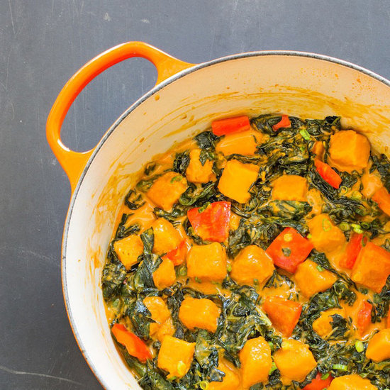 Braised Squash and Winter Greens with Coconut Curry