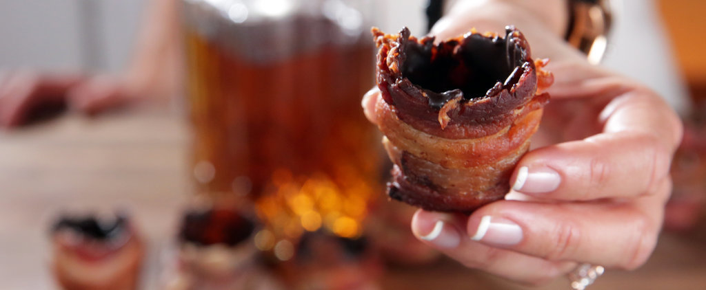 "No Chaser Needed For Chocolate-Bacon Shot ""Glasses"""