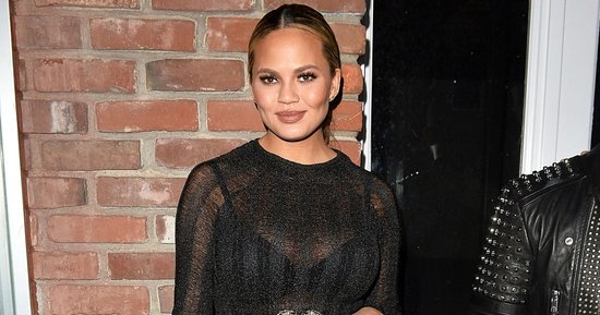 Pregnant Chrissy Teigen Takes Another Page Out of Kim Kardashian's Style Playbook in Sheer Dress